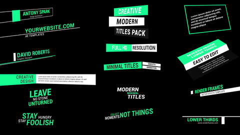 Stylish Lower Thirds Motion Graphics Template