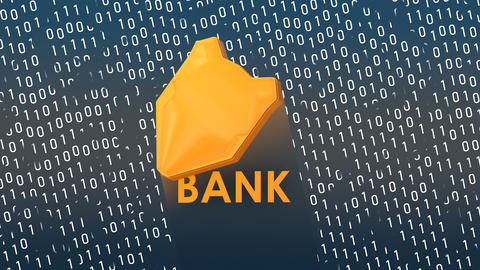 Concept animation, Banking digital data protection shield Animation