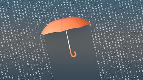 Umbrella digital protection concept animation Animation