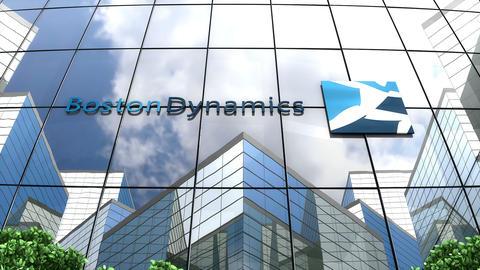 Editorial, Boston Dynamics logo on glass building Animation