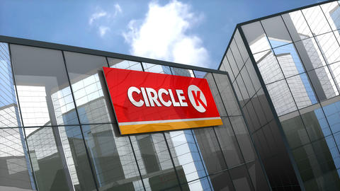 Editorial, Circle K Stores Inc. convenience store logo on glass building Animation