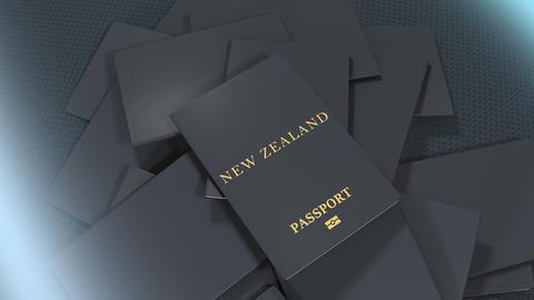 Artist rendering New Zealand travel passport Animation
