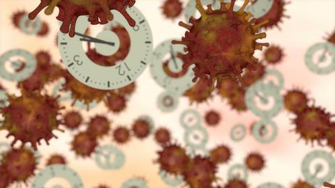 Pandemic time, world virus season concept animation Animation