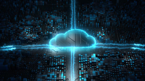 Digital cloud computing and cyber security 00543 Animation