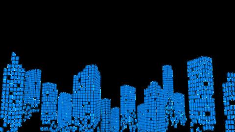Modern City silhouette animation Videos animados