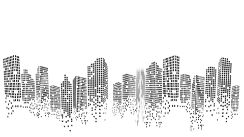 Modern City silhouette animation Animation