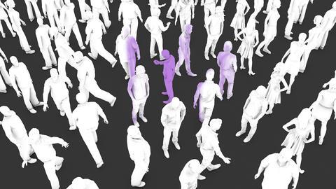 Human to human viral virus infection Animation