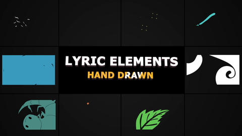 Flash FX Lyric Elements Premiere Pro Template