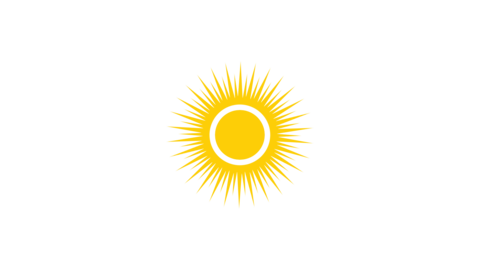 graphic sun and white alpha background animation Videos animados