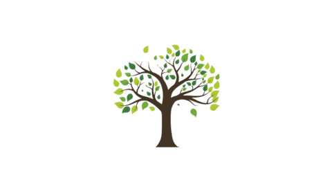 Tree Growth illustration animation in white background Videos animados