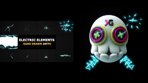 Flash FX ELECTRIC Elements And Transitions Premiere Pro Template