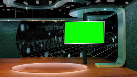 Education TV Studio Set 15- Virtual Green Screen Background Loop Live Action