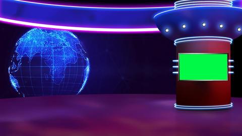 News TV Studio Set 317- Virtual Green Screen Background Loop ライブ動画