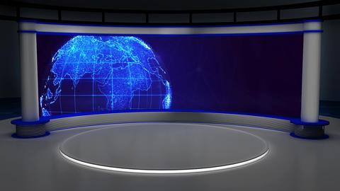 News TV Studio Set 319- Virtual Green Screen Background Loop ライブ動画