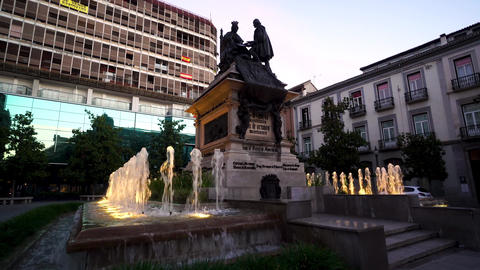 May 24, 2020: Granada, Spain. Evening view of Isabella the Catholic Area of ライブ動画