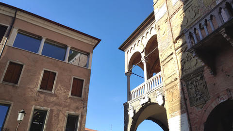 Architecture details from old historical building in Padova in Piazza dei Signori 2 Live Action