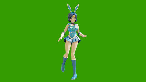 Animation dancing cartoon anime girls. Girl in the style of anime dancing. High quality seamless Animation