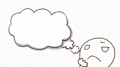 Speech bubble _cloud illustration Animation