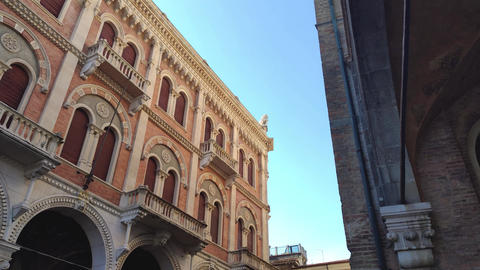 Architecture details from old historical building in Padova in Piazza dei Signori Live Action