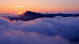 Morning fog, Hokkaido, Japan Footage