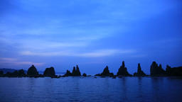 Hashikuiiwa Rock Formation, Wakayama Prefecture, Japan Footage