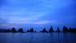 Hashikuiiwa Rock Formation, Wakayama Prefecture, Japan Footage