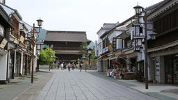 Traditional street, Nagano Prefecture, Japan Footage