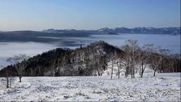 Fog at Lake Kussharo, Hokkaido Japan Footage