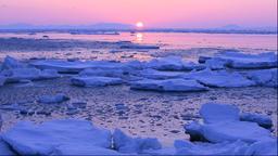 Drift Ice, Hokkaido, Japan Footage