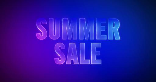 Summer Sale. Electric lightning words. Logotype Animation