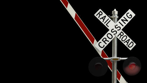 Railroad Crossing With Flashing Lights Videos animados