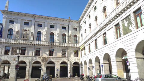 Piazza dei Signori in Padua in Italy, one the most famous place in the city 7 Live Action