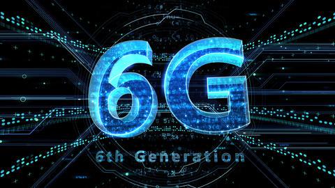 6G Digital Network technology 6th generation mobile communication concept background 501 black 4k Animation