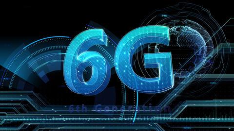 6G Digital Network technology 6th generation mobile communication concept background 513 black 4k Animation