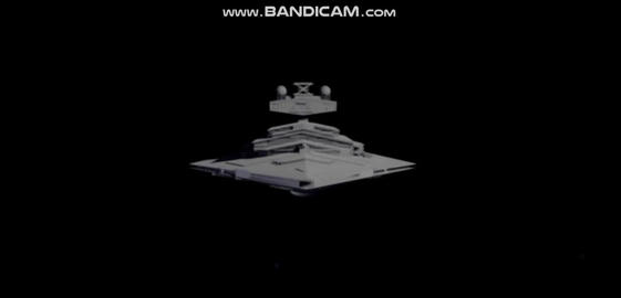 Low poly imperial star destroyer Modelo 3D