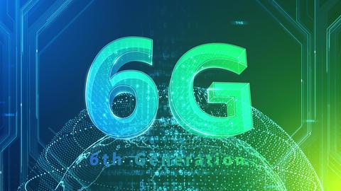 6G Digital Network technology 6th generation mobile communication concept background 527 green 4k Animation
