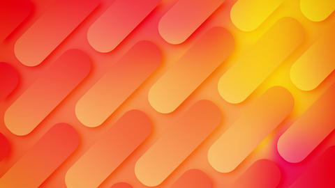 Modern dynamic rounded rectangles shape minimal geometric abstract background looped GIF