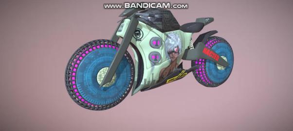 Cyberpunk bike 3D Model