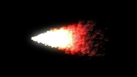 Fire stream motion graphics with night background Animation