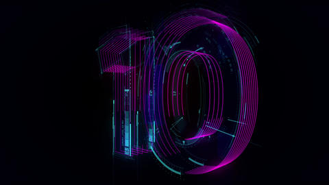 Digital Countdown Animation