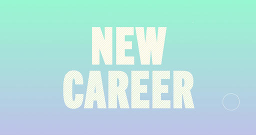 New Career Logotype. Smooth Text Animation Animation