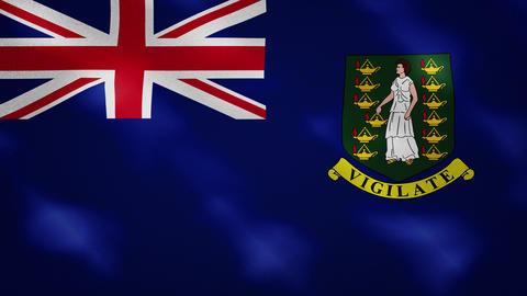 British Virgin Islands dense flag fabric wavers, background loop Animation