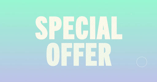 Special offer Logotype. Smooth Text Animation Animation