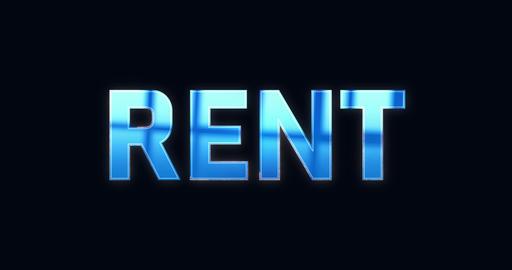 Rent. Electric lightning text. Logotype Videos animados