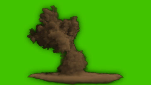 Fire explosion and smoke close-up. Fire and bomb explosion, giant real gas explosion, burning fire Animation