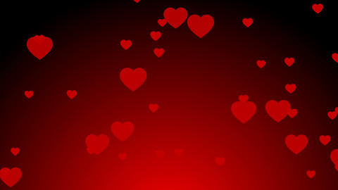 Valentine's Day red hearts fly up Animation