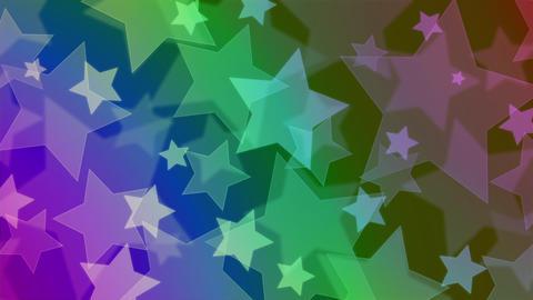 ネオンカラーがオシャレな星のモーションパターン背景 CG動画
