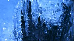 Water stream and ice, Hokkaido, Japan Footage