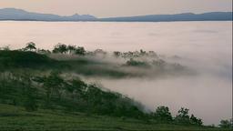 Clouds at Lake Kussharo, Hokkaido, Japan Footage