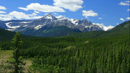 View of the Rocky Mountains, Canada Footage